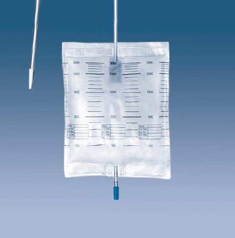 HVM Urin- und Sekretbeutel 2000ml mit Ablasshahn