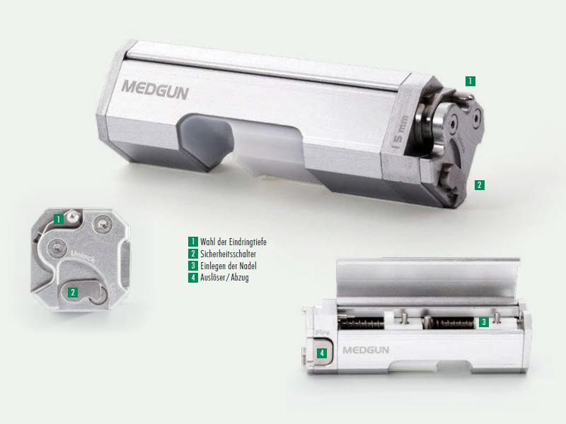 HVM Vollautomatische Biopsie-Pistole MEDGUN